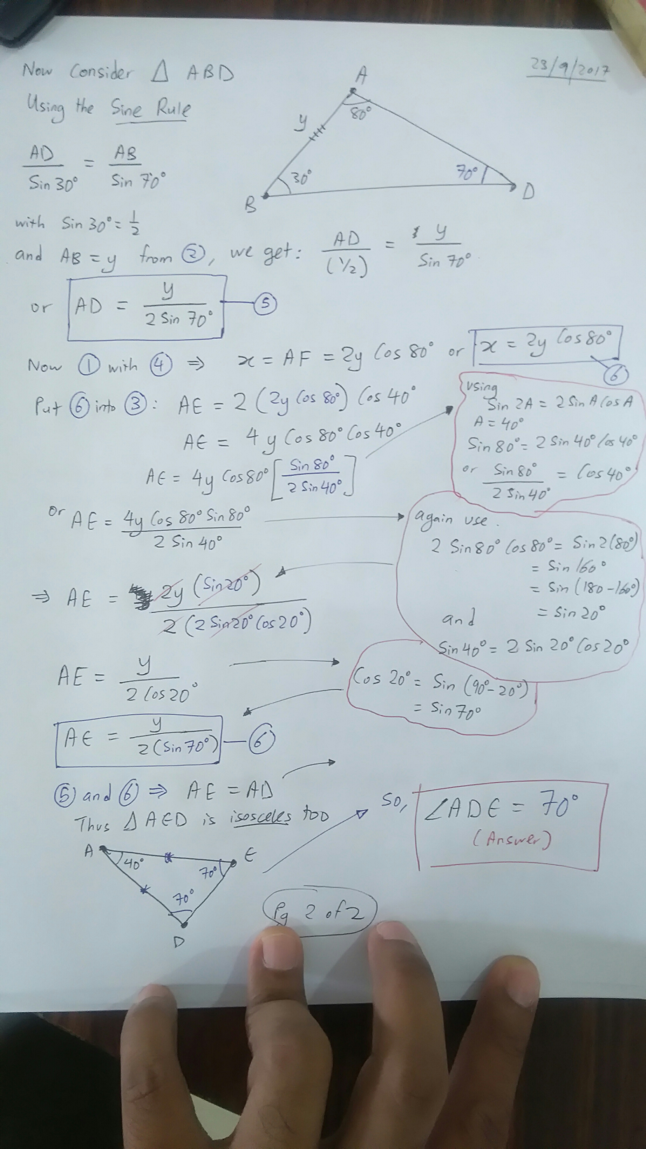 Finding an angle in a tough Math Olympiad Geometry Problem - The ...